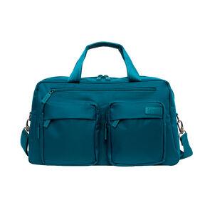"""Lipault Original Plume 19"""" Weekend Bag in the color Duck Blue."""
