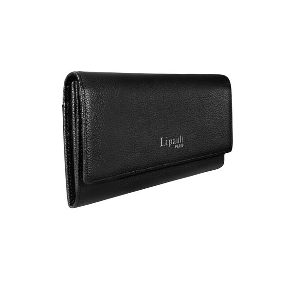 Lipault Plume Elegance Wallet in the color Black Leather.