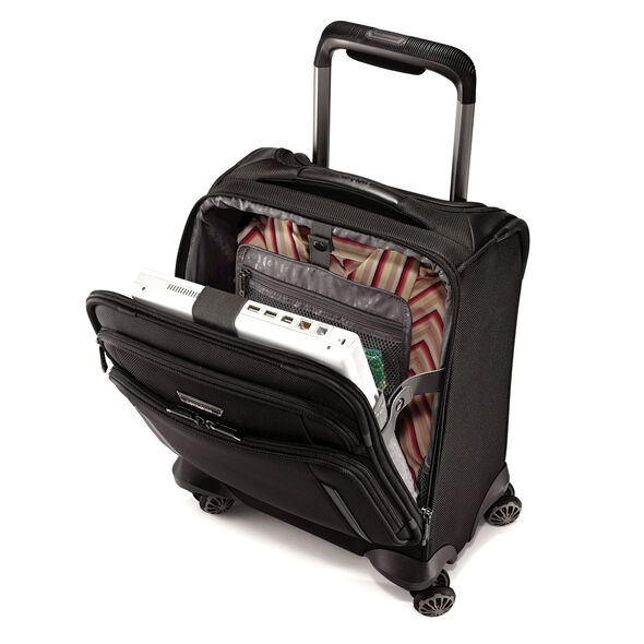 Samsonite Silhouette XV Spinner Boarding Bag in the color Black.