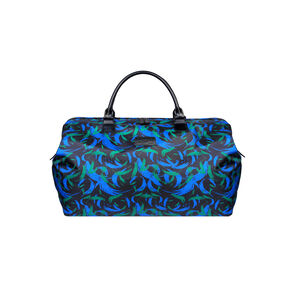 """Lipault Lady Plume 18"""" Weekend Satchel in the color Green Feather."""