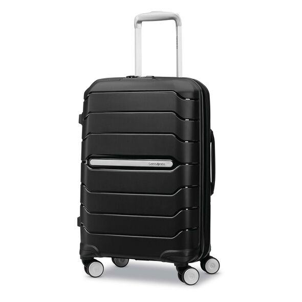 "Samsonite Freeform 21"" Spinner in the color Black."