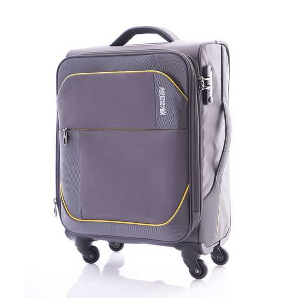 """American Tourister Warren 30"""" Spinner in the color Grey Yellow."""