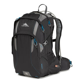 High Sierra Lenok Hydration Pack in the color Black/Charcoal/Pool.