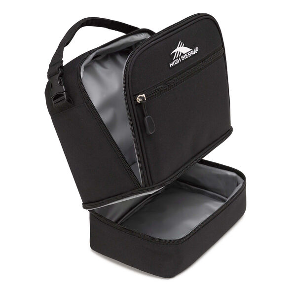 High Sierra Lunch Packs Stacked Compartment in the color Black.