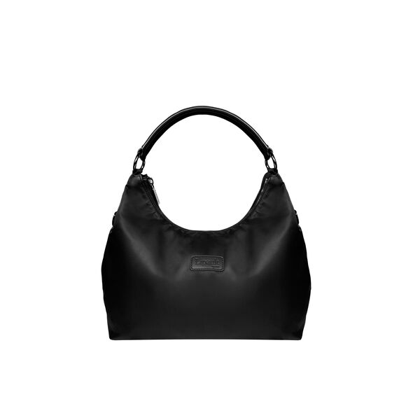 Lipault Lady Plume Hobo Bag S in the color Black.