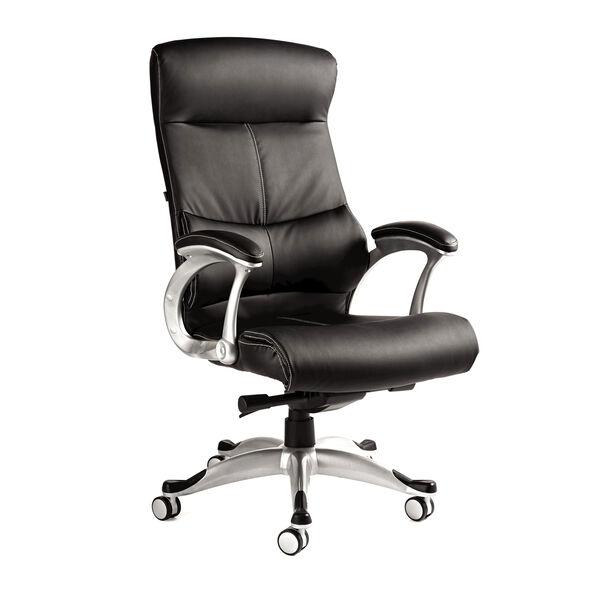 Samsonite Singapore Premium Bonded Leather Chair in the color Black.
