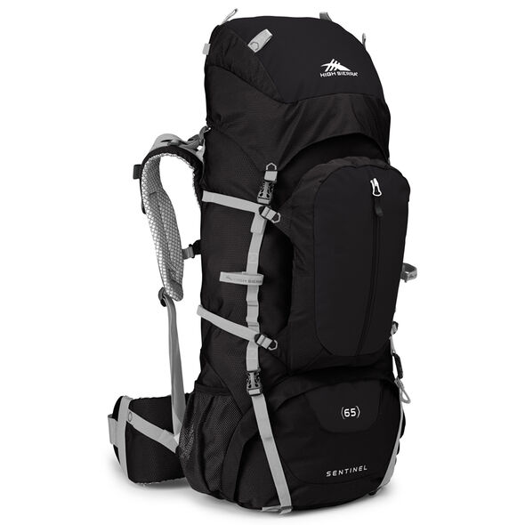 High Sierra Classic 2 Series Sentinel 65 Frame Pack in the color Black/Silver.