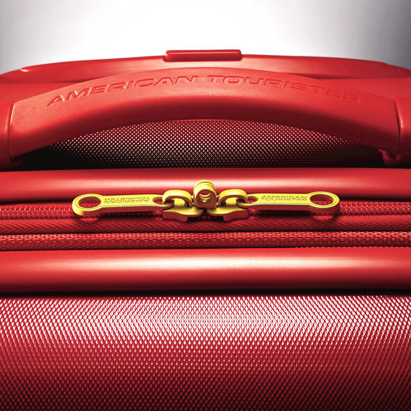 """American Tourister Marvel All Ages 20"""" Spinner in the color Iron Man."""