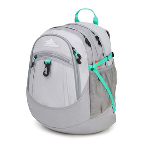 High Sierra Fat Boy Backpack in the color Silver/Ash/Aquamarine.