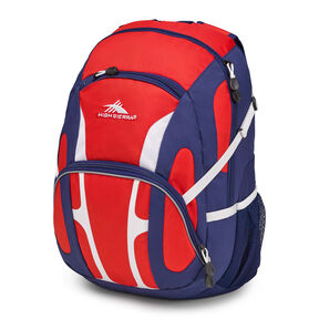 High Sierra Composite Backpack in the color Crimson/True Navy/ White.