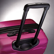 "Samsonite Omni PC 24"" Spinner in the color Radiant Pink."