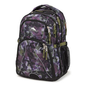 High Sierra Swerve Backpack in the color Forrest/Black/Moss.