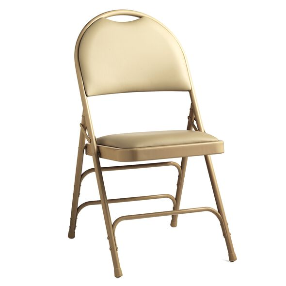 Samsonite Comfort Series Steel & Vinyl Folding Chair (Case/4) in the color Neutral.