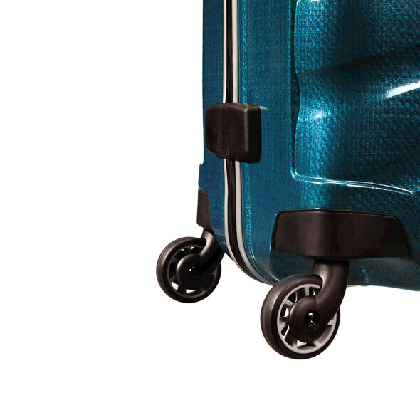 "Samsonite Black Label Firelite 20"" Spinner in the color Petrol Blue."