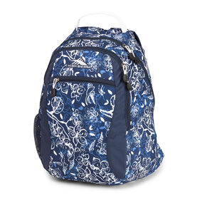 High Sierra Curve Backpack in the color Enchanted/True Navy/White.