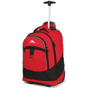 High Sierra Chaser Wheeled Backpack in the color Crimson/Charcoal.