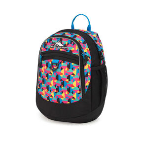 High Sierra Mini Fat Boy Backpack in the color Heart Throb/Black/Pool.