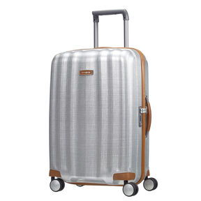 Samsonite Black Label Lite-Cube DLX Spinner Medium in the color Aluminum.