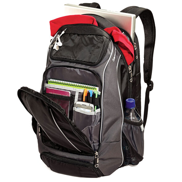 Samsonite Campus Compact Backpack in the color Black/Grey.