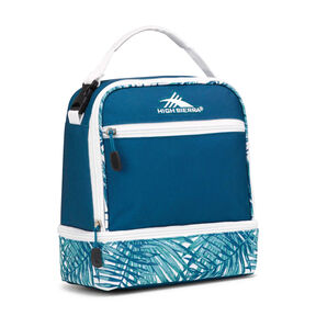 High Sierra Lunch Packs Stacked Compartment in the color Lagoon/Palms/White.