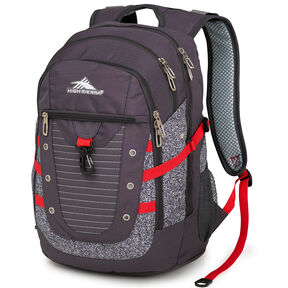 High Sierra Tactic Backpack in the color Mercury/Static/Crimson.