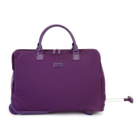 "Lipault Lady Plume 20"" Wheeled Satchel in the color Purple."