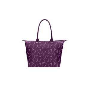 Lipault Lady Plume Tote Bag M in the color Eiffel Tower/Purple.