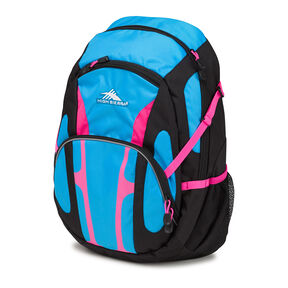 High Sierra Composite Backpack in the color Black/Pool/Flamingo.