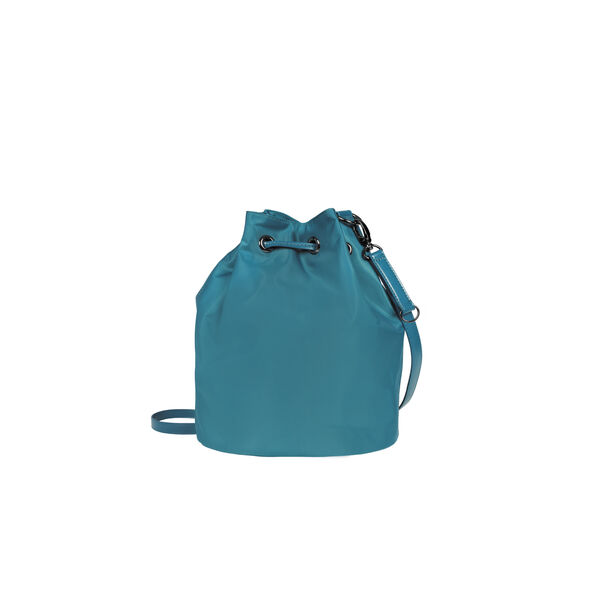 Lipault Lady Plume Bucket Bag S in the color Duck Blue.