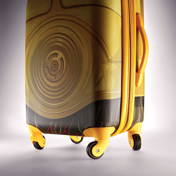 """American Tourister Star Wars 21"""" Spinner in the color C3PO."""