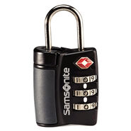 Samsonite Travel Sentry 3-Dial Combo Lock in the color Black.