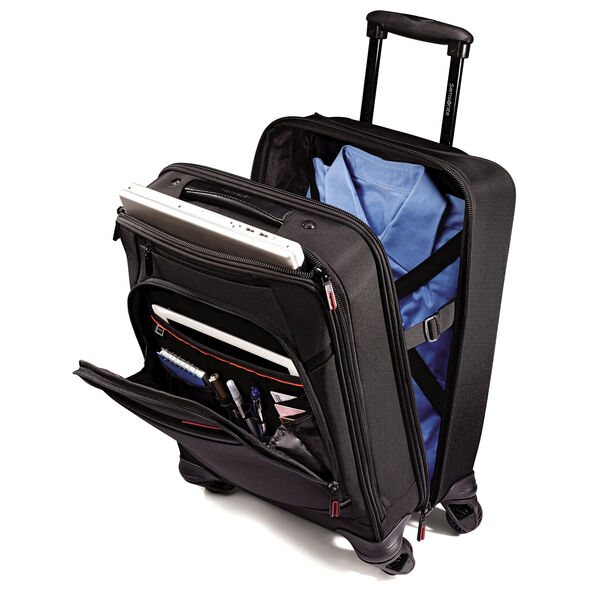 Samsonite Pro 4 DLX Vertical Spinner Mobile Office in the color Black.