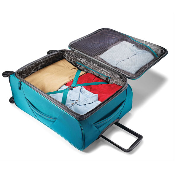 """American Tourister 4 Kix 28"""" Spinner in the color Teal/Grey."""