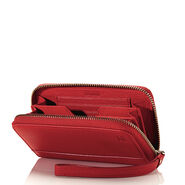 Hartmann Belle City Wristlet in the color Red.