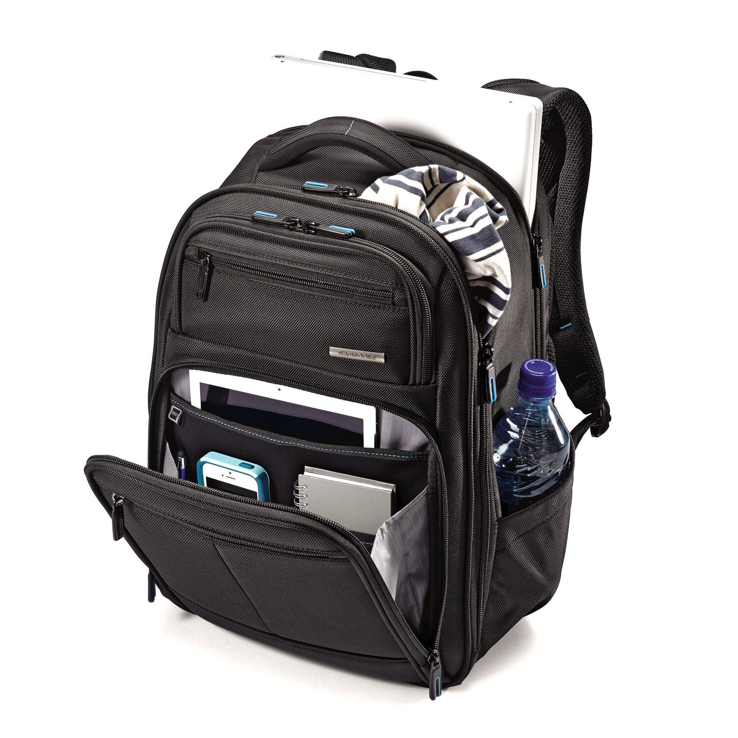 Samsonite novex perfect fit laptop backpack in the color black