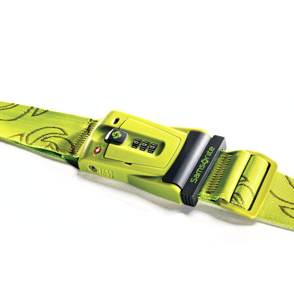 Samsonite Travel Sentry 3-Dial Combo Luggage Strap in the color Neon Green.