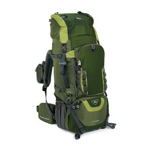 High Sierra Titan 55 Frame Pack in the color Amazon/Pine/Leaf.
