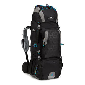 High Sierra Tech 2 Series Titan 55 Frame Pack in the color Black/Charcoal/Pool.