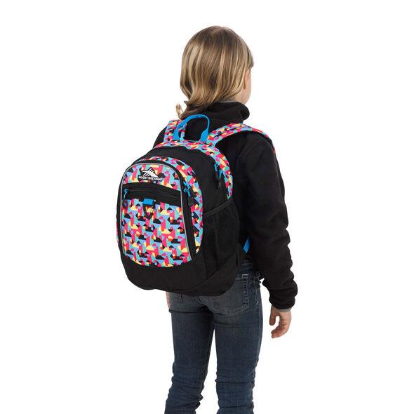 High Sierra Mini Fat Boy Backpack in the color Heart Throb/Black/Pool.