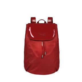 Lipault Plume Vinyle Backpack M Bi-Material in the color Ruby.