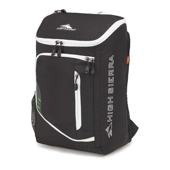 High Sierra Poblano Backpack in the color Black/White.