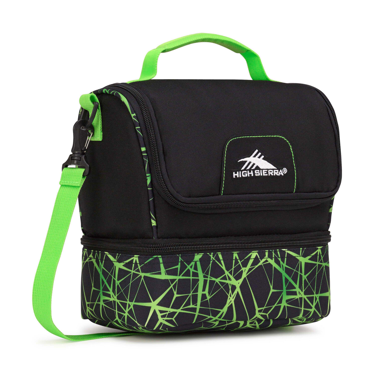 Web colors lime - High Sierra Lunch Packs Double Decker In The Color Black Digital Web Lime
