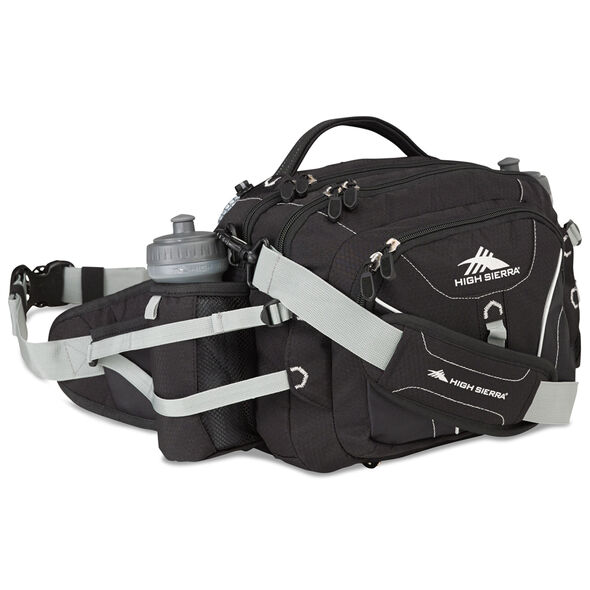 High Sierra Classic 2 Series Diplomat Waistpack in the color Black/Silver.