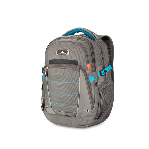 High Sierra SBT Slim Backpack in the color Slate/Charcoal/Pool.