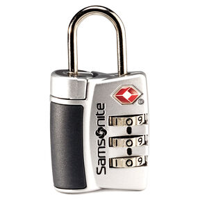 Samsonite Travel Sentry 3-Dial Combo Lock in the color Silver.