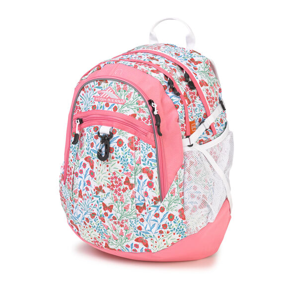 High Sierra Fat Boy Backpack in the color Summer Flight/Pink Lemonade.