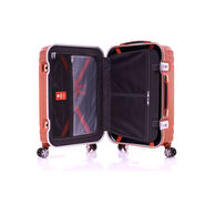 "Samsonite Tru-Frame Collection 25"" Spinner in the color Flame Orange."
