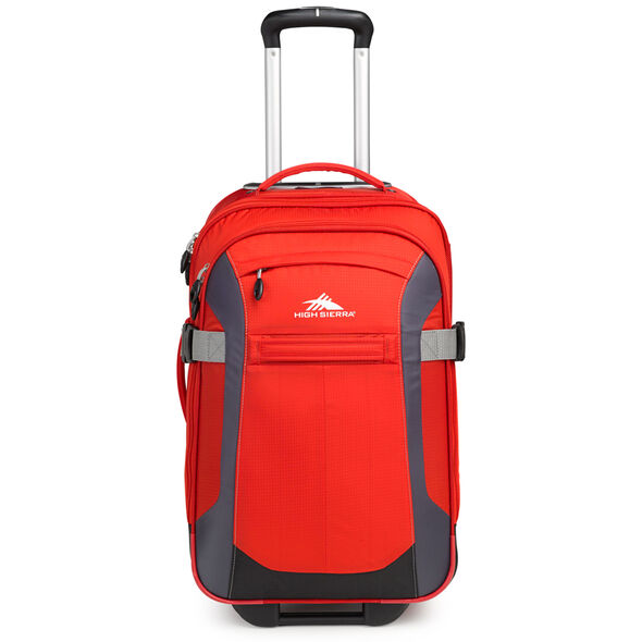 """High Sierra Sportour 22"""" Carry-On Upright in the color Red/Mercury/Black."""