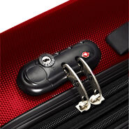 """Samsonite Carbon1 DLX 20"""" Spinner in the color Red."""