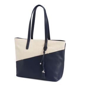 Samsonite Milleraye Shopping Bag M Canvas in the color Dark Navy/Canvas.
